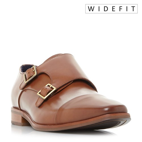 Dune Wputney Chisel Double Buckled Monk Shoes Tan EjNnj35