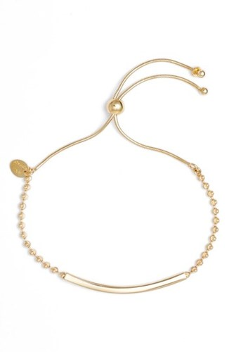 Women's Argento Vivo Bar Station Bracelet Gold