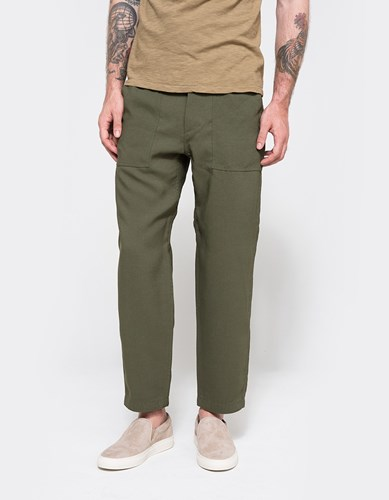 Nanamica Fatigue Pants Moss Green | Nuji