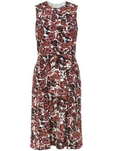 Andrea Marques Pleated Shift Dress Unavailable K0X8P5KHsW