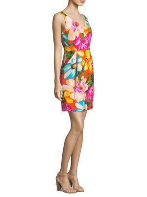 Coco Orange Sheath Milly Dress Floral FwCqA