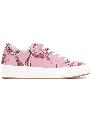 Philippe Model Flamingo Pink Print Trainers Leather Rubber A1VHQ