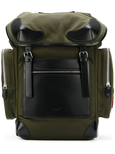 Givenchy Leather Trimmed Rider Backpack Men Cotton Leather Polyamide One Size Green xh349a