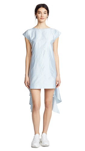 Run Gingham Sky Daccarett Leal Run Dress 7xv48HHqw
