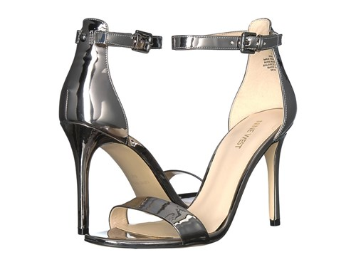 Nine West Mana Stiletto Heel Sandal Pewter Synthetic Synthetic High Heels yEK2GcyOd