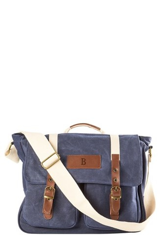 Cathy's Concepts Monogram Messenger Blue Bag qz7wqPB