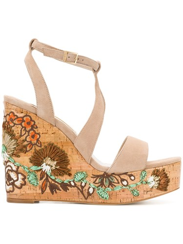 Sandals Neutrals Barceló Paloma Nude And Patch Floral Wedge 1n7IF