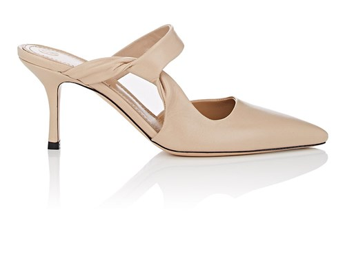 Leather Beige Twist Row The Mules Gala Natural tw8OSxqRPq