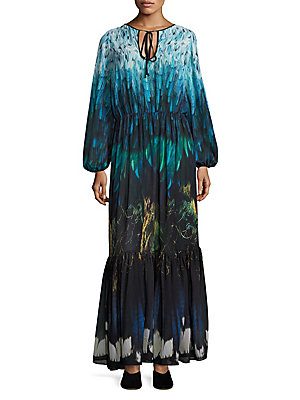 Born Black Was Feather Gown Tail Romance Chiffon q15a6aW