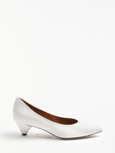 White Cone Leather Ara Shoes By Heel Court John Kin Lewis 8IAxwfqP