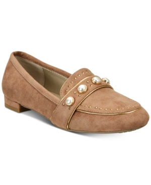 Taupe Loafers Embellished Shoes Women's Rialto Light Golda wSHqnF