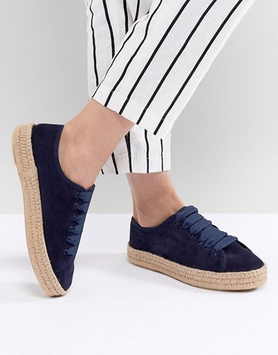 Design Navy Lace Jan Espadrilles Up Suede Suede Asos Fgd1CwqnF