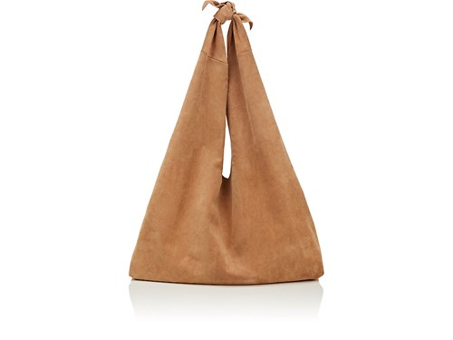 The Row Bindle Suede Shoulder Bag Beige Tan 0MfJPkMzcO
