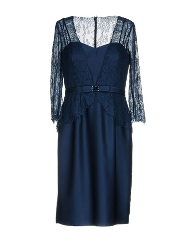PASTORE COUTURE Knee Length Dresses Dark Blue qkdY3fdDsE