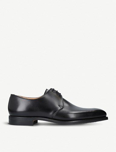 Crockett Jones Highbury Leather Derby Shoes Black BZGKh4