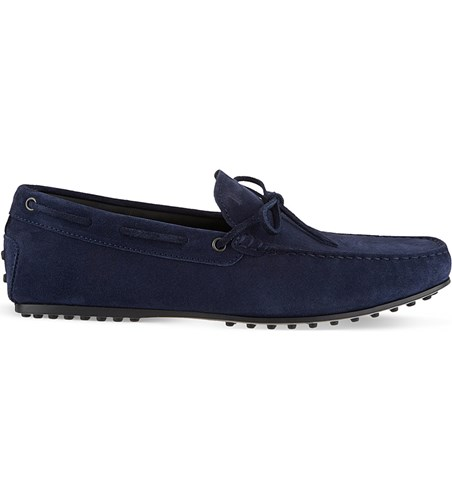 Tod's Gommino Heaven Driving Shoes In Suede Navy bkc4O1cJ