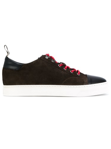 Low Brand Two Tone Sneakers Leather Suede Rubber Brown Xw472lB8