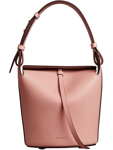 Small And Burberry Bucket Purple Leather Bag Pink The vrYwv