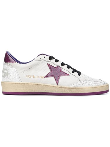 Golden Goose Deluxe Brand Ball Star Distressed Sneakers White DtF3ziVA