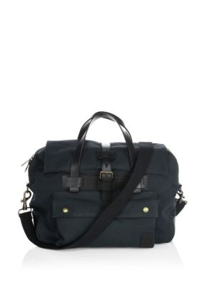 Belstaff Colonial Briefcase Khahki Black ri3nB