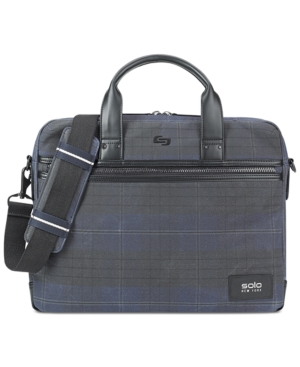 Briefcase Cotton Men's Bryce Printed Solo Moss Waxed CwAXqIIF