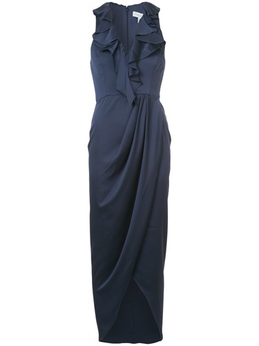Shona Joy Sleeveless Ruffle Maxi Dress Blue Vzq0OoPrCA