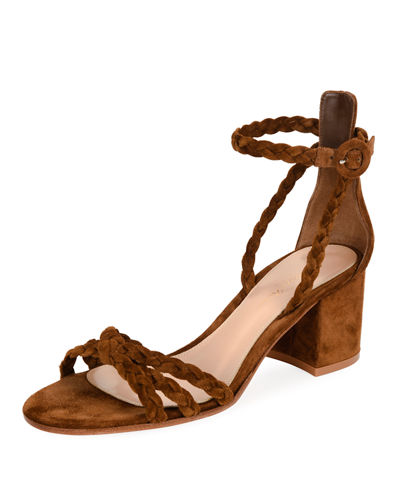 Gianvito Rossi Braided Suede 60Mm Sandal Texas Tfp68RBy