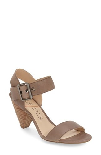 Sole Society Women's 'Missy' Sandal Taupe Wax Leather ne4pm9Cwt