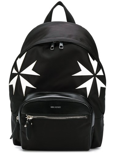 Neil Barrett Military Star Print Backpack Black xgAgJ