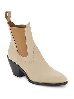 Chloé Stacked Heel Leather Chukka Boots Biscotti Ppn55hwl