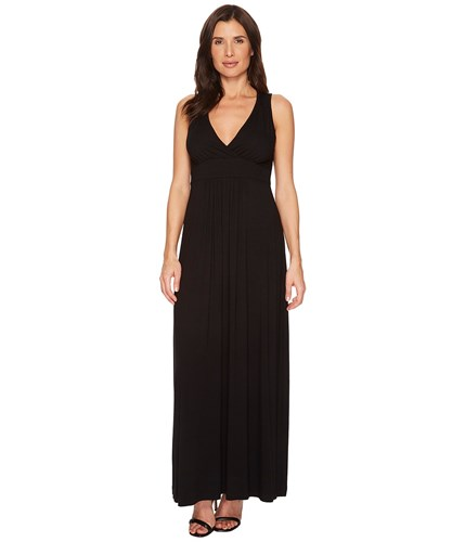 Karen Kane V Neck Maxi Dress Black K3GxCOsskj