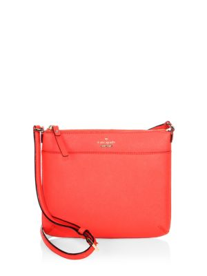Kate Spade Tenley Saffiano Leather Crossbody Toasted Wheat Prickley Pear Black OAjnDLI6gg