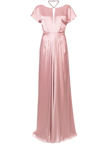 Zac Posen Perry Gown Pink And Purple 8v0Aj7m