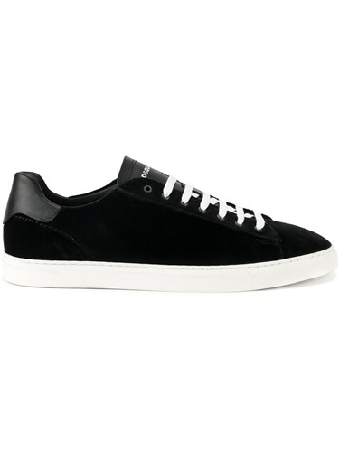 DSquared Dsquared2 Velvet Lace Up Sneakers Black OOLmQuBBpM