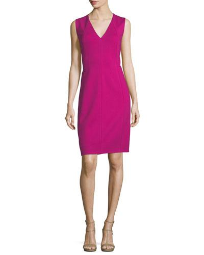 Elie Tahari Roanna Sleeveless Sheath Dress Crimson Heat fG2xb