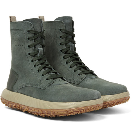 Summer Trimmed Sportswear Suede Under Leather Boots Armour Rlt Green Gray AaxXn
