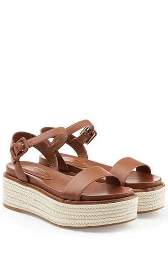 Sergio Rossi Leather Platform Sandals 5aZZXNiIGi