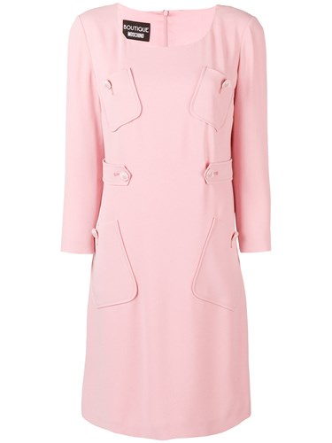 Boutique Moschino Pocket Detail Shift Dress Pink And Purple L7mE6g7CN1