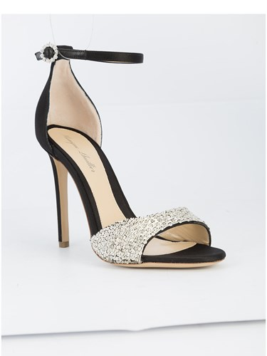 Monique Lhuillier Sequinned Embellished Sandals Black 7lwuDOnXP