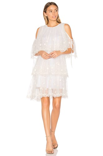 Tulle amp; Needle White Dress Embroidered Thread xRwwqtFz
