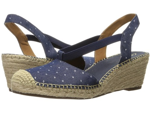 Clarks Petrina Kaelie Navy Fabric Sandals Blue v76XK