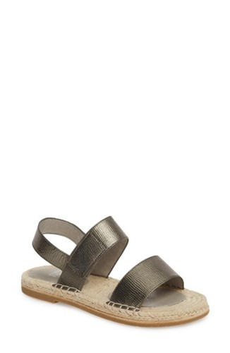 Leather Pewter Eileen Sandal Max Fisher ZqwwB0P