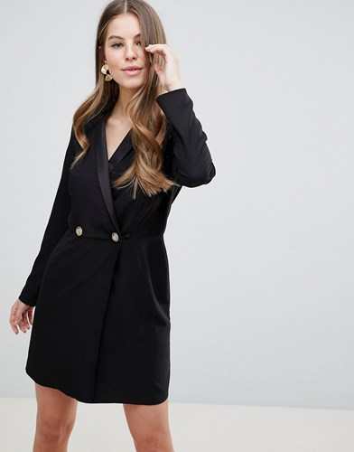 Buttons Gold Mini Tux Asos With Ultimate Dress Black Design q0gYRA