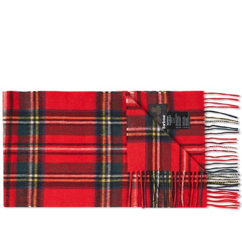 New Check Tartan Scarf Red