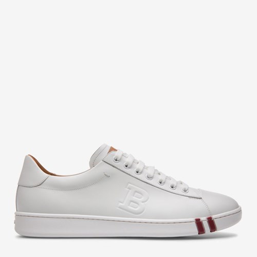 Bally White Trainer In Leather Men's rqPwx4r