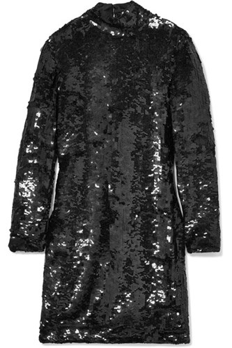 Mini Haney Back Black Open Dress Sequined Jackie Rnqn1I6gH