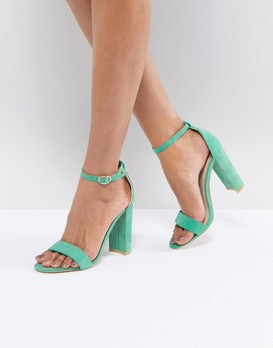 Green Barely Green Glamorous Block Mf There Sandals Heeled P1qxSwq