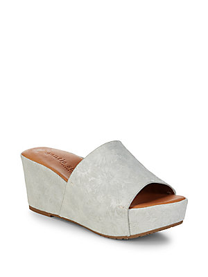 Gentle Souls Forella Floral Leather Wedges Pearl VFXGj4Z