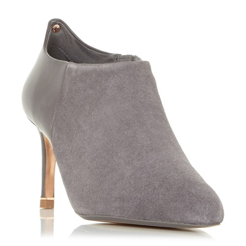 Ted Baker Akashers Mid Heel Point Ankle Boots Taupe 7myfdMTK7