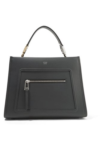Fendi Runaway Small Leather Tote Black mFlud5RoV